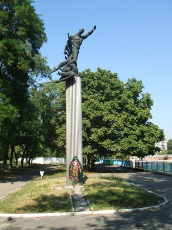 Monument in Kiev for the death match against the ss soccer team of fascist Germany. Photo | Erstmalklarkommen