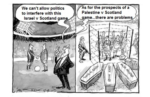 Israel-Scotland-Palestine football cartoon2