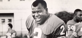 Football legend Cookie Gilchrist, who also played in the C.F.L., where he was a four-time all-star