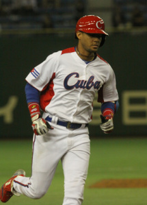 Cuba's Yulieski Gourriel finally broke out of a hitting dry spell.