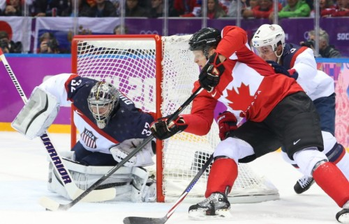 The NHL can only drool over the figures. The Canada-U.S. men's hockey semifinal drew a television audience of more than 15 million for CBC on Friday. Photo: Corey Perry of Canada tries a wraparound on Jonathan Quick of the USA as he is defended by Cam Fowler during first period action in the men's hockey semifinal at the Sochi 2014 Winter Olympic Games, February 21, 2014 | Jean Levac/Postmedia News