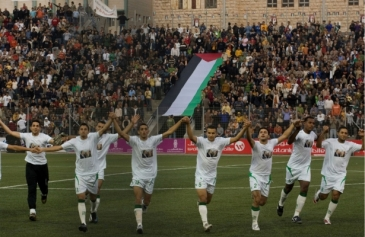 The Palestinian national soccer team, a source of pride for many, has been under attack by the Israeli state | AP Photo. Tara Todras-Whitehill