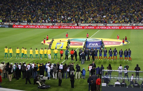 South Africa versus Colombia, May 27, 2010. According to reports from officials, this match was most likely fixed. In this artivcle, Declan Hill reveals close ties between the fixers and officials | Salymfayad/Flickr