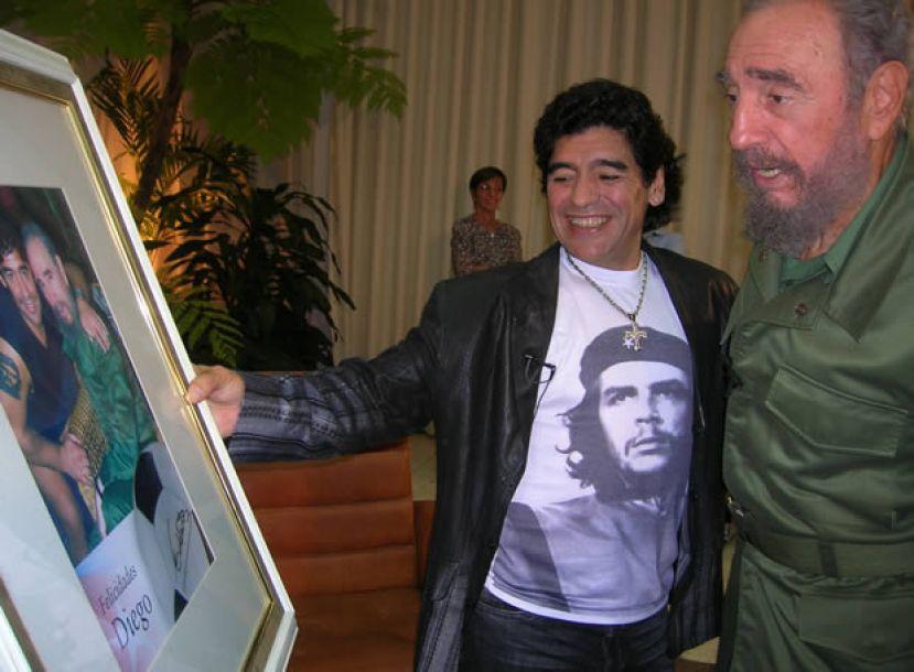 Risultati immagini per maradona chavez fidel