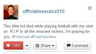 Mezut Ozil tweet