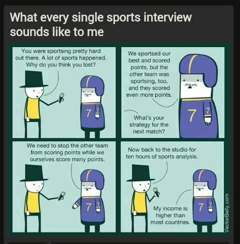 sports interview