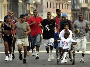 The annual Terry Fox Run in Cuba is the largest in the world.