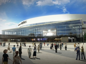 A proposed arena to NHL standards for Quebec City is shown in an artist's rendering released on Thursday, October 11, 2012. THE CANADIAN PRESS/HO   na012815-arena