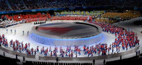 Delegación cubana en la ceremonia inaugural de los XVI Juegos Panamericanos 2011, en el estadio Panamericano de Guadalajara, en México, el 14 de octubre de 2011.  AIN FOTO/Juan Pablo CARRERAS/sdl