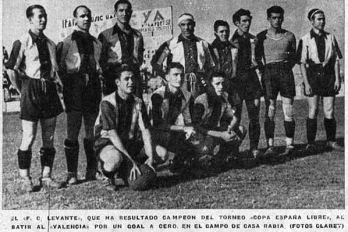 Levante FC won the Free Cup on July 18, 1937. In Catalalonia, most big clubs were collectivized by groups of workers (as well as the Catalan federation, controlled by CNT). The Spanish Football Federation to date has refused to recognize the title.