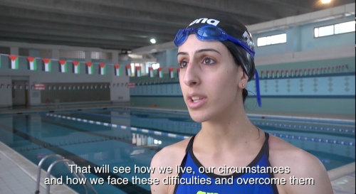 Mary al Atrash, a 22-year-old swimmer from Beit Sahour that will represent Palestine in the 2016 Olympic Games.