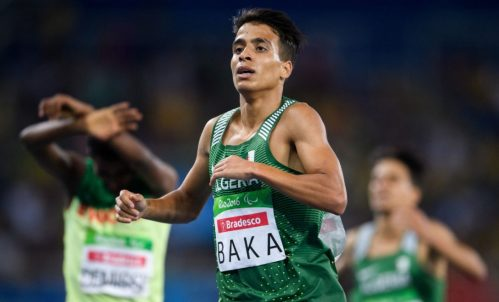 Algeria's Abdellatif Baka won gold in the 1,500-metre race in the Rio Paralympics on Sunday in a classification for visually impaired runners. Baka ran the race faster than the Olympic gold medallist in the same event | BOB MARTIN / AP