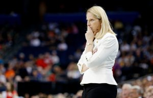 "Coach Brenda Frese of Maryland, pictured in 2015, said of the 129-point blowout, ""Tonight was a really good tuneup for us."" 