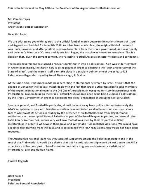 2018.Palestine-Argentina letter